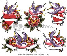 I'm thinkin' the upper left one for a tattoo for my gramma :)  She said she'd come back as a bird XD