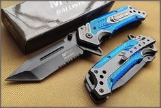 MTECH-BALLISTIC-BLUE-RESCUE-SPRING-ASSISTED-TACTICAL-KNIFE-4-5-INCH-CLOSED-440 #tacticalknife