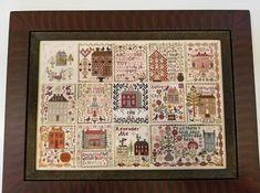 Cross Stitch Sampler Patterns, Cross Stitch Samplers, Painted Stepping Stones, Wool Applique Quilts, Harvest Basket, Stitch Witchery, Blackbird Designs, Needlework Shops, Pumpkin Farm