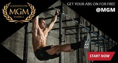 Intensive abs training in Marbella at one of the best Gyms in the area. FREE always.