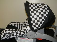 CHECKERED FLAG black and white Squares by LIZSSTITCHES.COM, $50.00