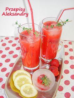 Przepisy Aleksandry: DOMOWA TRUSKAWKOWA LEMONIADA Food And Drink, Yummy Food, Fruit, Vegetables, Delicious Food, Vegetable Recipes, Veggies