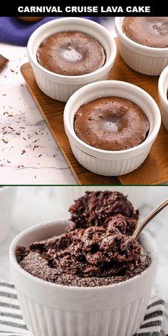 Chocolate Melting Cake, Mini Chocolate Cake, Chocolate Molten Lava Cake, Lava Cake Recipes, Mini Lava Cake Recipe, Dessert Recipes, Baking Recipes, Dog Food Recipes, Delicious Desserts