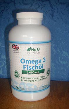 Nu U Omega 3 Fischöl Softgel-Kapseln  Meinen Testbericht findet ihr hier:  https://linasophie77.wordpress.com/2016/08/12/nu-u-omega-3-fischoel-softgel-kapseln/