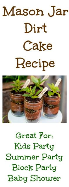 Recipe For Dirt Cake In Mason Jars