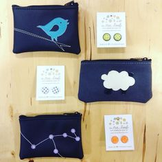 Coin cases & earrings from A Tea Leaf jewelry are sure to please!  $16 #intheshop