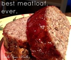 My Best Meatloaf Recipe Main Dishes with eggs, salt, pepper, garlic powder, italian seasoning, parsley, worcestershire sauce, onions, ground beef, grated parmesan cheese, dry bread crumbs, ketchup, barbecue sauce