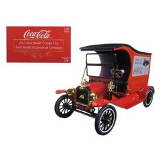 """1917 Ford Model T Cargo Van Coca-Cola """"Drink Delicious"""" 1/18 Diecast Model Car by Motorcity Classics"""