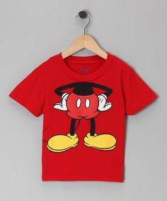 Take a look at this Red Mickey Headless Tee - Infant & Toddler by Disney on #zulily today!