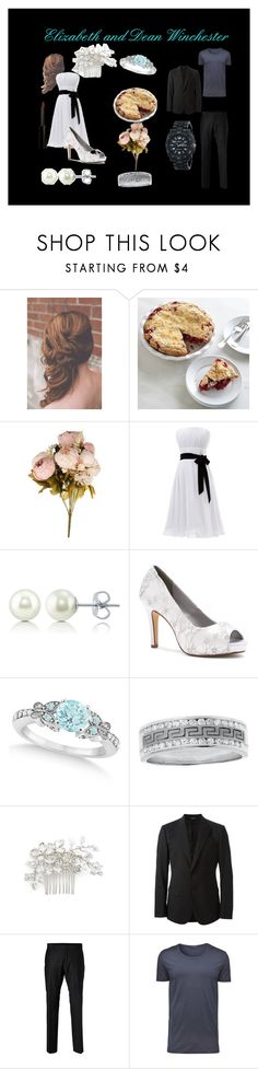 """""""Elizabeth's and Dean's Wedding Day"""" by secretly-a-fangirl ❤ liked on Polyvore featuring BERRICLE, Dyeables, Allurez, Wedding Belles New York, Dolce&Gabbana, SELECTED, Sprout and Vincent Longo"""