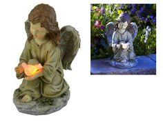 Solar Powered Angel Garden Statue Led Light Outdoor Yard Statues Patio Memorial  #SolarPoweredAngel