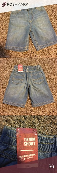 Arizona jeans shorts Light blue nwt shorts. Size 4T. Stretchy waist with a front button. Arizona Jean Company Bottoms Shorts