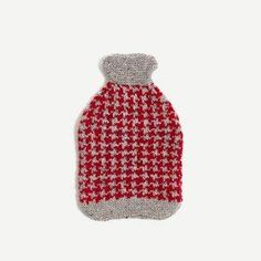 Knitted Houndstooth Water Bottle Cover (Various Colours)