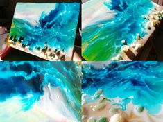 Let's go to the beach and enjoy ourselves! Uv Resin, Resin Art, Diy Resin Crafts, Resin Flowers, Do Anything, Epoxy, Handicraft, Amazing, Beach