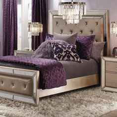 Inspired by this Ava Aubergine Bedroom Inspiration look on Genç Odası – home accessories Stylish Home Decor, Affordable Home Decor, Cheap Home Decor, Glam Bedroom, Bedroom Sets, Silver Bedroom Decor, Aubergine Bedroom, Dark Purple Bedrooms, Purple Master Bedroom