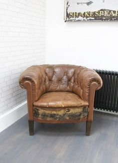 Antique Leather Club Chair - Bring It On Home