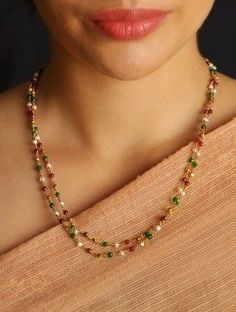 9 Cheap And Easy Cool Tips: Jewelry Accessories Indian jewelry necklace crystal. Gold Jewelry Simple, Coral Jewelry, Jewelry Sets, Beaded Jewelry, Jewelry Necklaces, Silver Jewelry, Silver Ring, Gold Necklace, Gold Choker