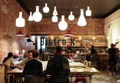 Bistro - hanging lights, especially different varieties