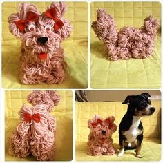 Yarn puppy inspired and taught by fellow pinner and crafting Queen Margie
