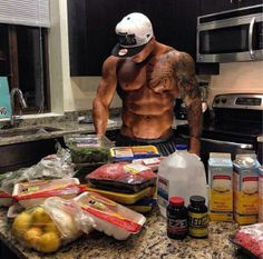 fitness inspiration in the kitchen