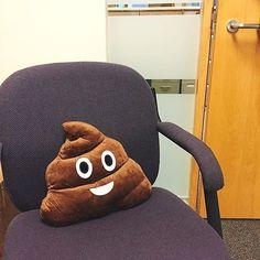 Funny gag gift - the poop emoji pillow