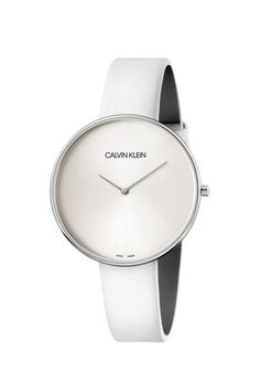 Calvin Klein Armbanduhr Full Moon Silber K8Y231L6 Leo, Watches, Leather, Accessories, Bracelet Watch, Stainless Steel, Silver, Wristwatches, Clocks