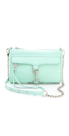 Rebecca Minkoff Mini MAC Bag in mint. :) to cute!