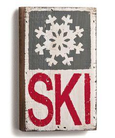 Another great find on #zulily! 'Ski' Wood Wall Art #zulilyfinds