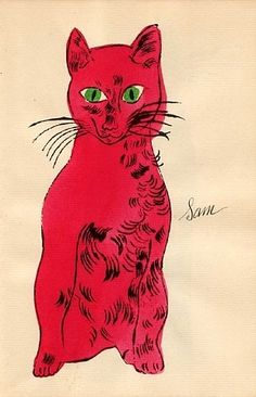 Andy Warhol: Sam   had to repine this! its a cat and my name!