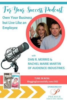 Dan R. Morris & Rachel Marie Martin of Audience Industries have found success with live training events. Listen in to their words of wisdom for entrepreneurs. Success is Living like an Employee? Today I am excited to have Dan and Rachel from Blogging Concentrated here with me. Dan was working as a project manager, responsible …