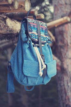 bag blue bag printed bag cardigan belt blue aztec backpack rucksack blie  colourful cute print summer colouri colour indian bohemian love it  streetstyle ... 0378f18e884