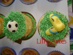 Mini Naked Cake futebol