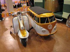 Lambretta with VW van sidecar. I want!!