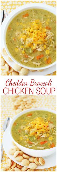 Creamy, cozy, comforting Cheddar Broccoli Chicken Soup!
