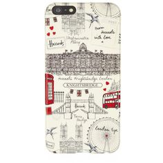 Harrods London Sketch iPhone 6 Plus Case ($15) ❤ liked on Polyvore featuring accessories, tech accessories, phone cases, phone, iphone and electronics