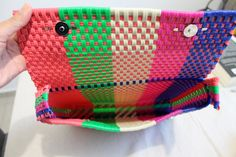 multicolor mexican hand woven bag clutch made of by ChiapasbyJUBEL
