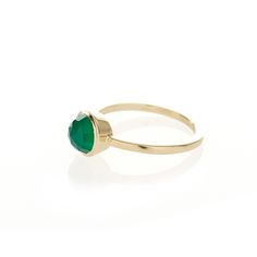 Dear Rae // 9ct yellow gold Green Agate ring