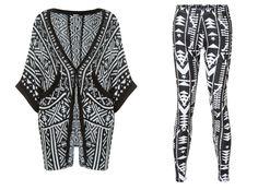 #fashion #mode #Black and #white #Aztec #kimono #cardigan and #leggings http://www.tally-weijl.net/p/cardigans-pullover/schwarz-weisser-cardigan-im-kimono-style/giacbruno-blkbge004?categoryId=26079