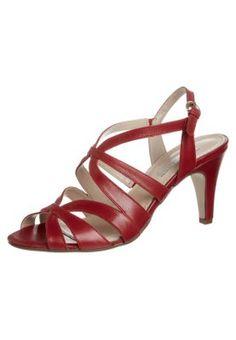 Korolliset sandaalit - punainen