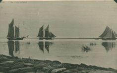 Kihnu kivilaevastik Pärnu muulide vahel 1920. aastal. Pilt Kihnu Mere Seltsilt / Ajaleht Postimees 1920. aastatest