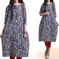 Women summer print short sleeve dress