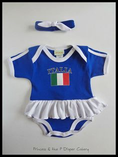 Girls Personalized Forza Italia Ruffled by PrincessAndThePbaby, $24.95
