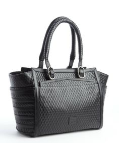 Christian Louboutin black leather diamond quilted 'Farida' bowler bag