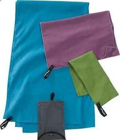 These compact towels can dry off two people after swimming and are dry to the touch within an hour of use.