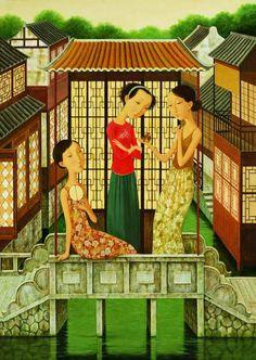 Shuai Mei (China, born 1969) ~ 'Bridge Veranda'