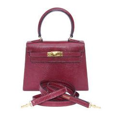 0b4e0bba7bf0 Authentic Hermes Mini Kelly 20 Bag 3 ways Rouge H Lizard Gold Hdw Hermes  Bags