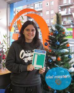 Sandra se sacó el carnet de conducir en Autoescuelas Vial Masters. ¡Enhorabuena y felices fiestas!