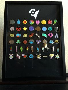 pokemon badges from all different games!                                                                                                                                                      More