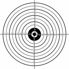 805fb89c3967104697548402aab8c072 printable target 4 small crosshair bullseye gun shooting range on printable targets for zeroing