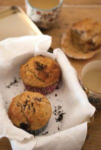 muffins Earl grey, pommes et raisins